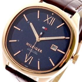 トミーヒルフィガー TOMMY HILFIGER 腕時計 メンズ 1710366 クォーツ ネイビー ブラウン ネイビー