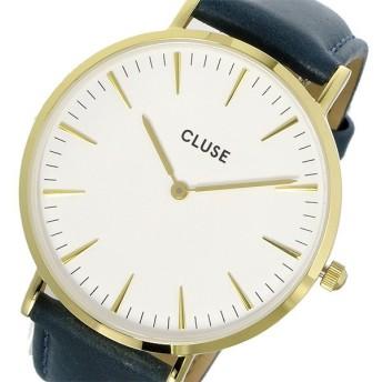 クルース CLUSE ラ・ボエーム レザーベルト 38mm レディース 腕時計 CL18416 ホワイト/ネイビー ホワイト