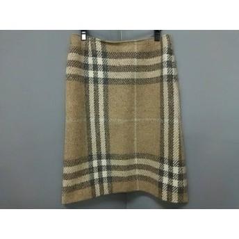【中古】 バーバリーロンドン スカート サイズ13 L レディース ベージュ ダークグレー アイボリー
