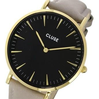 クルース CLUSE ラ・ボエーム レザーベルト 38mm レディース 腕時計 CL18411 ブラック/グレー ブラック