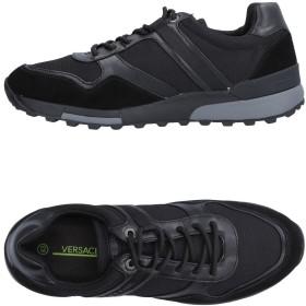 《期間限定 セール開催中》VERSACE JEANS メンズ スニーカー&テニスシューズ(ローカット) ブラック 40 革 / 紡績繊維