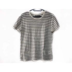 【中古】 ヴィンス VINCE 半袖Tシャツ サイズXS レディース アイボリー 黒 ボーダー