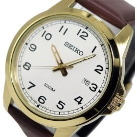 セイコー SEIKO クオーツ メンズ 腕時計 SUR160P1 ホワイト ホワイト