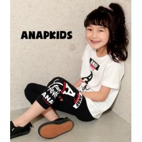 【セール開催中】ANAP KIDS(キッズ)7分丈ロゴマークレギンス