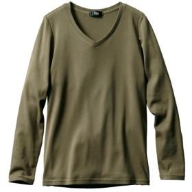 綿100%VネックTシャツ (大きいサイズレディース)Tシャツ・カットソー