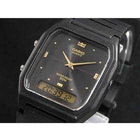カシオ CASIO アナデジ クオーツ 腕時計 AW48HE-1A ブラック/ブラック ブラック