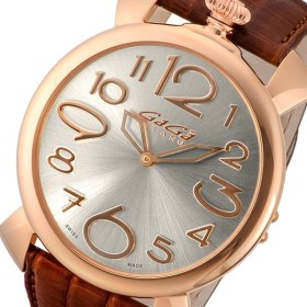 ガガ ミラノ マニュアーレ シン 46mm クオーツ レディース 腕時計 509104 シルバー シルバー
