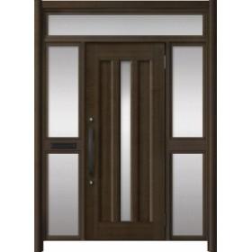 玄関ドア リシェント3 アルミ ランマ付  C12N型 両袖中桟付ポスト付 W:1,400~1,895mm × H:1,973~2,300mm LIXIL リクシル TOSTEM