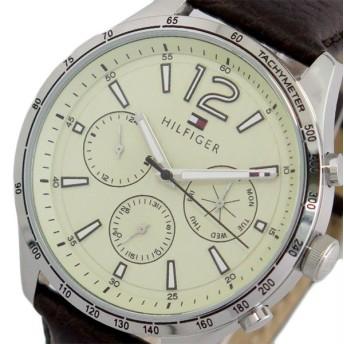 トミーヒルフィガー TOMMY HILFIGER 腕時計 メンズ 1791467 クォーツ オフホワイト ダークブラウン ホワイト