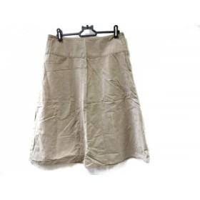 【中古】 マーガレットハウエル MargaretHowell スカート サイズ3 L レディース ベージュ