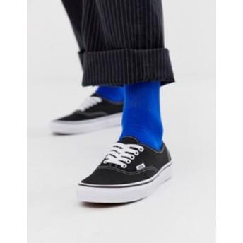 バンズ メンズ スニーカー シューズ Vans Authentic plimsolls in black Black