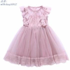 ワンピース 女の子 可愛い 110 子供服 お姫様スカート ミニスカート 150cm 2018夏