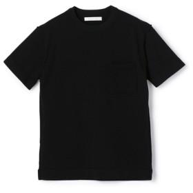 ESTNATION / プレーティングソリッド半袖ニット ブラック/SMALL(エストネーション)◆メンズ ニット/セーター