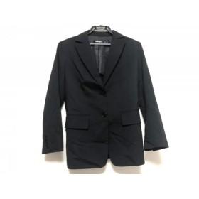 【中古】 ダナキャラン DKNY ジャケット サイズ2 M レディース 黒 肩パッド/春・秋物