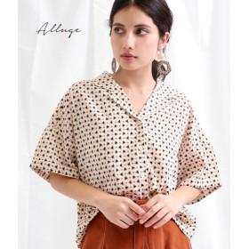 【セール開催中】ANAP(アナップ)小紋柄開襟ショートシャツ