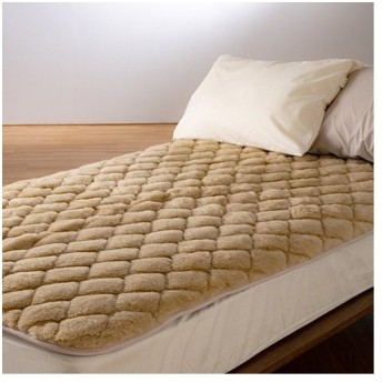 京都西川 敷きパッド シングル 西川 日本製 ウール100% ウォッシャブル 無着色 ウール敷パッド ベッドパッド シングルサイズ