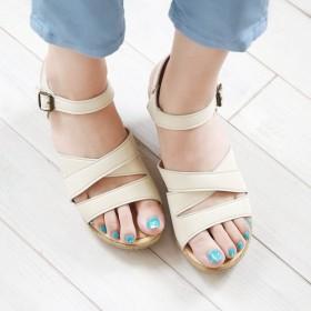 素足でも安心の柔らかさ!カジュアルヒールサンダル(5688) 靴 日本製 国産素材 【納期5 14日】