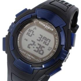 タイムピース TIME PIECE 電波 デジタル メンズ 腕時計 TPW-002BL ブラック/ブルー ブラック