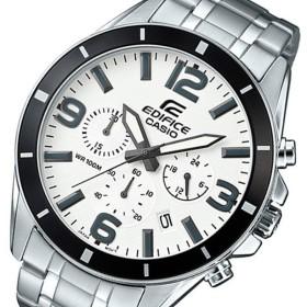カシオ CASIO エディフィス クロノ クオーツ メンズ 腕時計 EFR-553D-7B ホワイト ホワイト