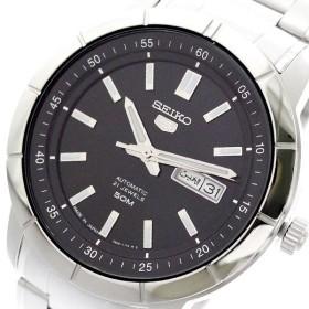 セイコー SEIKO 腕時計 メンズ SNKN55J1 セイコー5 SEIKO5 自動巻き ブラック シルバー ブラック