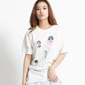 Tシャツ - WEGO【WOMEN】 トーキョーグールキャラプリントTシャツ(S) MC18WN12-M008
