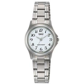 シチズン CITIZEN キューアンドキュー Q&Q ステンレスシリーズ レディース 腕時計 W379-204 シルバー ホワイト