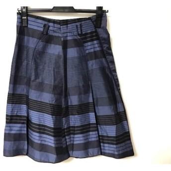 【中古】 チヴィディーニ CIVIDINI スカート サイズ40 M レディース ブルー 黒 ボーダー