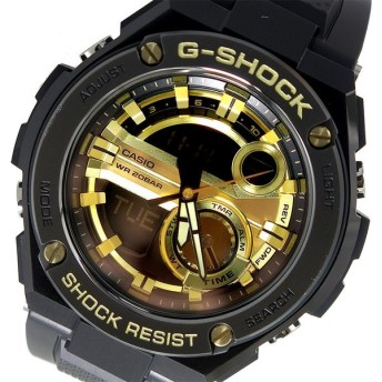 カシオ CASIO Gショック G-SHOCK メンズ 腕時計 GST-210B-1A9 ブラック×ゴールド ブラック