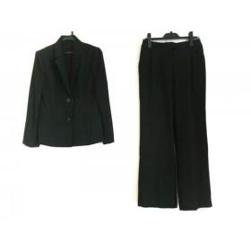 【中古】 ユキコハナイ レディースパンツスーツ サイズ11 M レディース 黒 肩パッド/3点セット