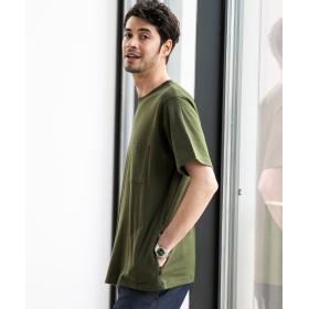 1cd2693b53bc52 【40%OFF】 グリーンレーベルリラクシング NM ☆ ヘビーウェイト カラーZIP ポケット Tシャツ