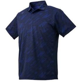 デサント(DESCENTE) メンズ サンスクリーン ポロシャツ ネイビー DMMNJA73 NV トレーニング スポーツウェア 半袖 シャツ トップス