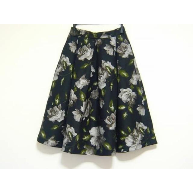 【中古】 フレイアイディー FRAY I.D スカート サイズ0 XS レディース 黒 マルチ 花柄