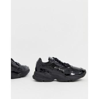アディダス レディース スニーカー シューズ adidas Originals Outloud Falcon sneakers in triple black Core black