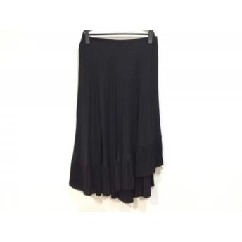 【中古】 ソブ ダブルスタンダード SOV. ロングスカート サイズ38 M レディース 黒 プリーツ
