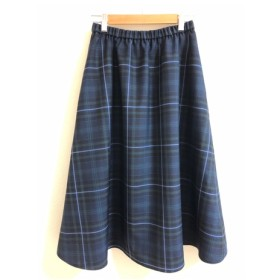 サマーウールのタータンチェックのフレアスカート