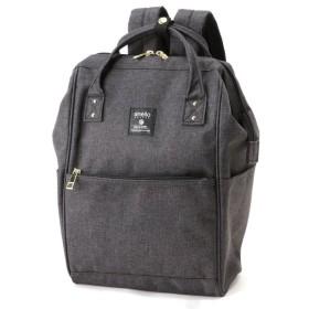 バッグ カバン 鞄 レディース リュック クラシック杢調ポリ口金リュックSMALL カラー 「ブラック」
