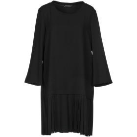 《セール開催中》MARIELLA ROSATI レディース ミニワンピース&ドレス ブラック 40 ポリエステル 97% / ポリウレタン 3%