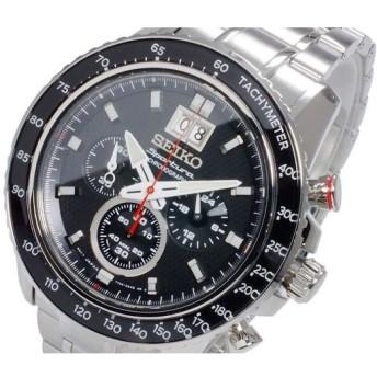 セイコー SEIKO スポーチュラ SPORTURA クオーツ メンズ クロノグラフ 腕時計 SPC137P1 ブラック