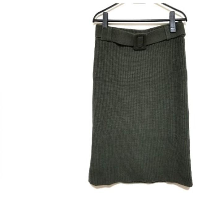 【中古】 ミラオーウェン Mila Owen スカート サイズF レディース ダークグリーン ニット