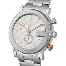 グッチ GUCCI Gクロノ クオーツ メンズ 腕時計 YA101360 ホワイト ホワイト