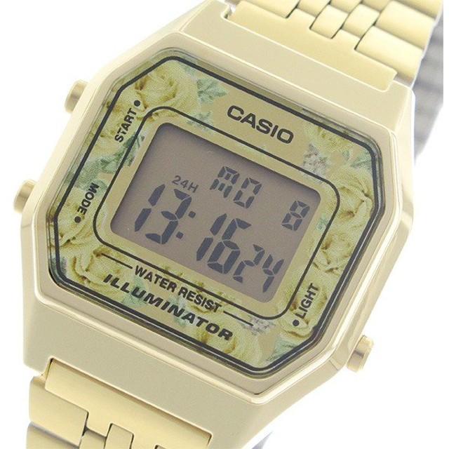 636324dd44 【希少逆輸入モデル】 カシオ CASIO クオーツ レディース 腕時計 LA680WGA-4C 液晶/