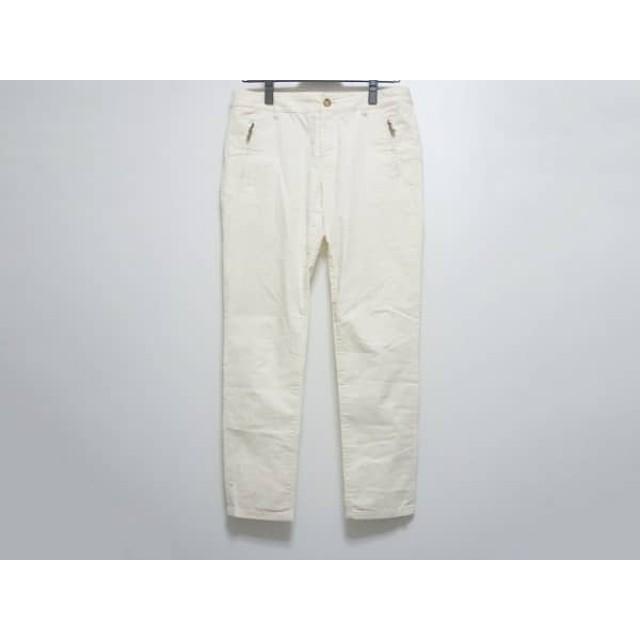 【中古】 トゥルートラサルディ TRU TRUSSARDI パンツ サイズ38 M レディース アイボリー