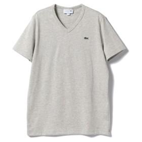 BEAMS F LACOSTE / ロゴVネックTシャツ メンズ カットソー LT. GRAY/CCA 2
