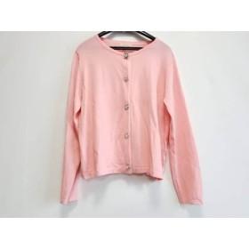 【中古】 ローズティアラ Rose Tiara カーディガン サイズ42 L レディース ピンク ビジューボタン