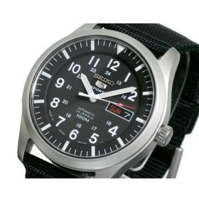 セイコー SEIKO セイコー5 スポーツ 自動巻き 腕時計 SNZG15J1 ブラック ブラック