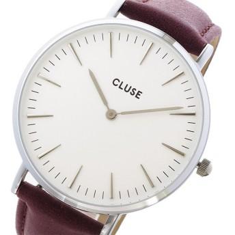 クルース CLUSE ラ・ボエーム レザーベルト 38mm レディース 腕時計 CL18217 ホワイト/ボルドー ホワイト