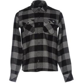 《期間限定 セール開催中》DICKIES メンズ シャツ グレー XS コットン 100%