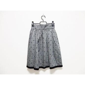【中古】 フォクシー FOXEY スカート サイズ40 M レディース グレー 黒