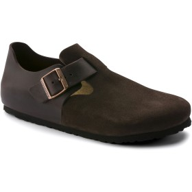【BIRKENSTOCK】London/ロンドン Oiled Leather/Suede Leather エボニー オイルドレザー/スウェード レザー ビルケンシュトック
