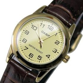 カシオ CASIO クオーツ レディース 腕時計 LTP-V001GL-9B アイボリー アイボリー